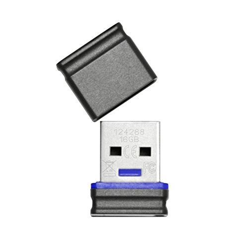 Imagen principal de Platinum 177536 Mini Twister USB Stick - Memoria USB de 16 GB, Negro