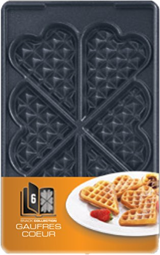 Imagen principal de Tefal XA8006 - Accesorio para sandwichera, 226/132 mm, corazón, negro