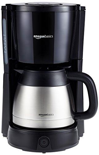 Imagen principal de Amazon Basics - Cafetera de goteo (1000 W, 8 tazas, jarra isotérmica