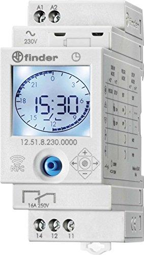 Imagen principal de Finder serie 12 - Interruptor horario semanal 1 contacto 16a 230v
