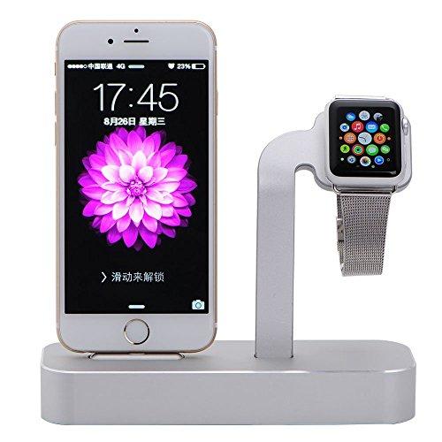 Imagen principal de NIUTOP Apple Watch Stand, 2 en 1 Premium aluminio carga muelle estaci�
