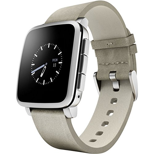 Imagen principal de Pebble Time Steel - Smartwatch (Android, Li-Ion), Color Plata