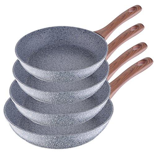 Imagen principal de San Ignacio Granito - Set de 4 sartenes (20-24-26-28 cm), alumino forj