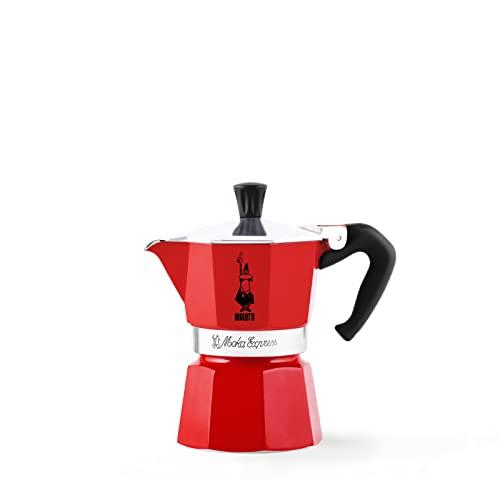 Imagen principal de Bialetti Moka Express Red Cafetera Italiana Espresso, 6 Tazas, Alumini