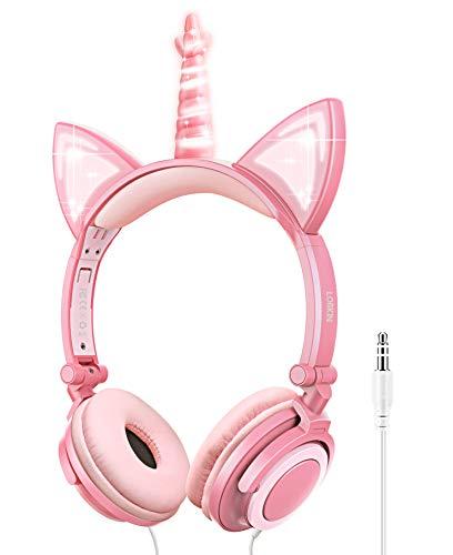 Imagen principal de Auriculares para niños, Auriculares Unicornio con Cable para niños,