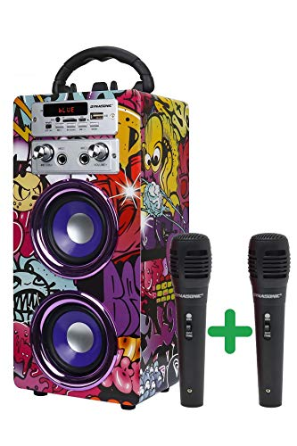Imagen principal de DYNASONIC - (3ª Gen Altavoz Bluetooth Portatil con Modo Karaoke y Mic