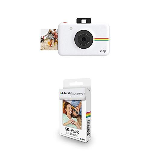 Imagen principal de Polaroid Snap - Cámara Digital instantánea, Blanco + Paquete de 50 H