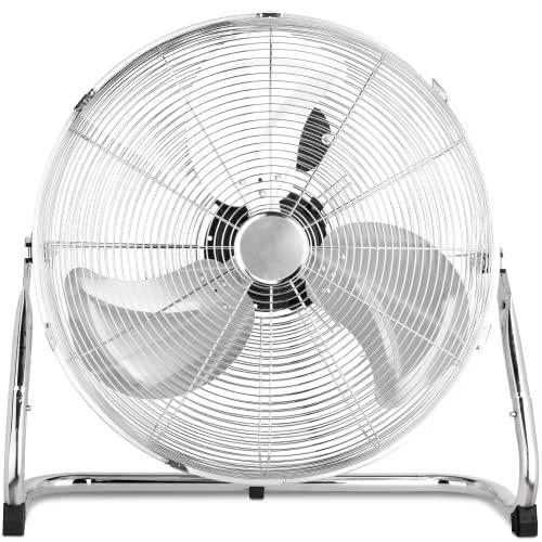 Imagen principal de Pro Breeze Ventilador de Suelo Cromado para Gimnasio de 20 con 3 veloc
