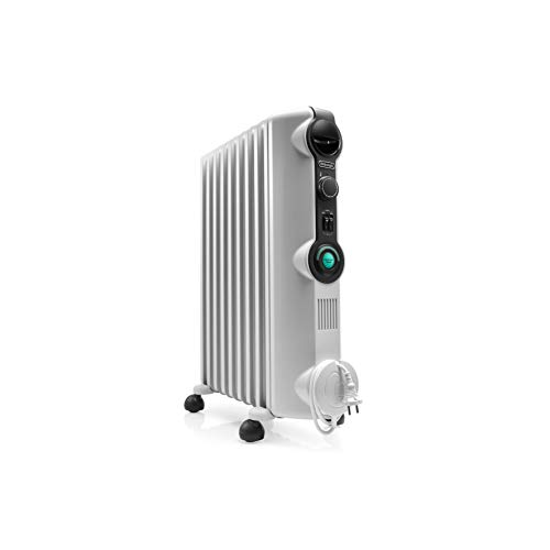 Imagen principal de De'longhi RADIA S Radiador con Comfort-Temp, 9 Elementos, Blanco y Neg