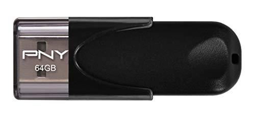 Imagen principal de PNY FD64GATT4-EF - Memoria USB 2.0 de 64 GB, color negro