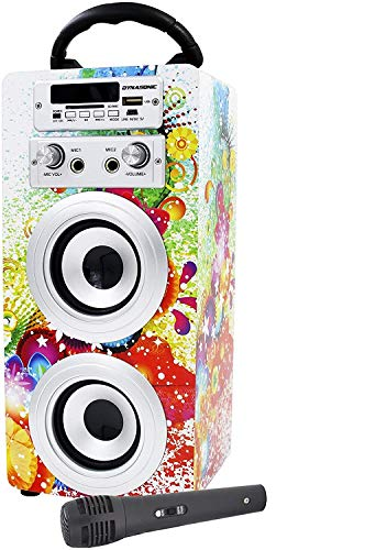 Imagen principal de DYNASONIC - Altavoz Bluetooth Portatil Karaoke con Micrófonos Incluid