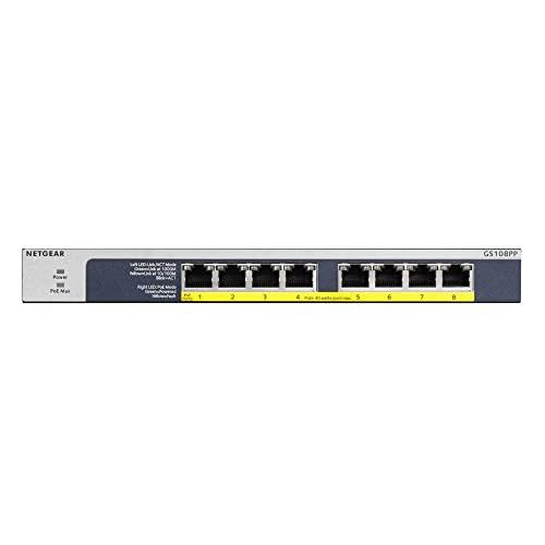 Imagen principal de Netgear GS108PP Switch Gigabit con 8 Puertos PoE, Switch ethernet PoE