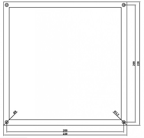 Imagen principal de Marco de Aluminio 220x 220mm plangefräst