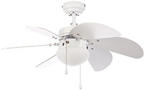 Imagen principal de Orbegozo CP 15076 B - Ventilador de techo con luz, 6 aspas de madera,