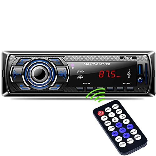 Imagen principal de Aigoss Autoradio Bluetooth, Control Remoto Manos Libres FM Estéreo de