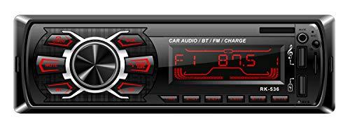 Imagen principal de Autoradio Bluetooth, RIXOW Manos Libres Estéreo de Coche, Apoyo de Re
