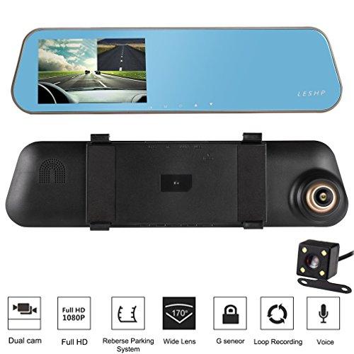 Imagen principal de LESHP Cámara de vídeo HD 1080p 32 GB para coche DVR con pantalla LCD