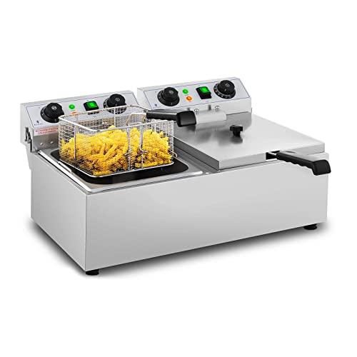 Imagen principal de Royal Catering Freidora Eléctrica Doble Para Hostelería 2 x 10 Litro