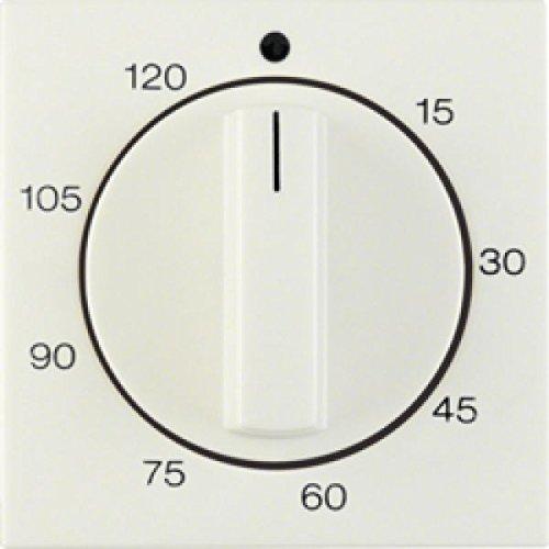 Imagen principal de Hager s1 - Placa central mando temporizador 120 minutos brillo blanco